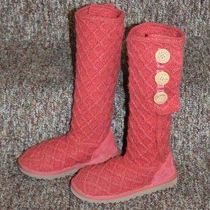 UGG Lattice Cardy Genuine Sheepskin Knit Boot 5